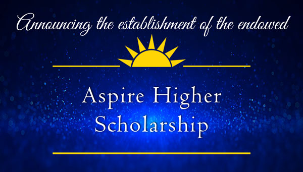 decorative image of aspire , Announcing the establishment of the endowed Gary A. DeLapp Alumni Scholarship 2019-05-08 13:53:37